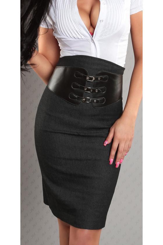 Mėlynos spalvos laisvalaikio suknelė L346_146742