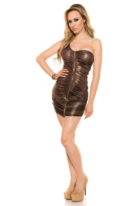 Smėlio spalvos laisvalaikio suknelė L346_146754