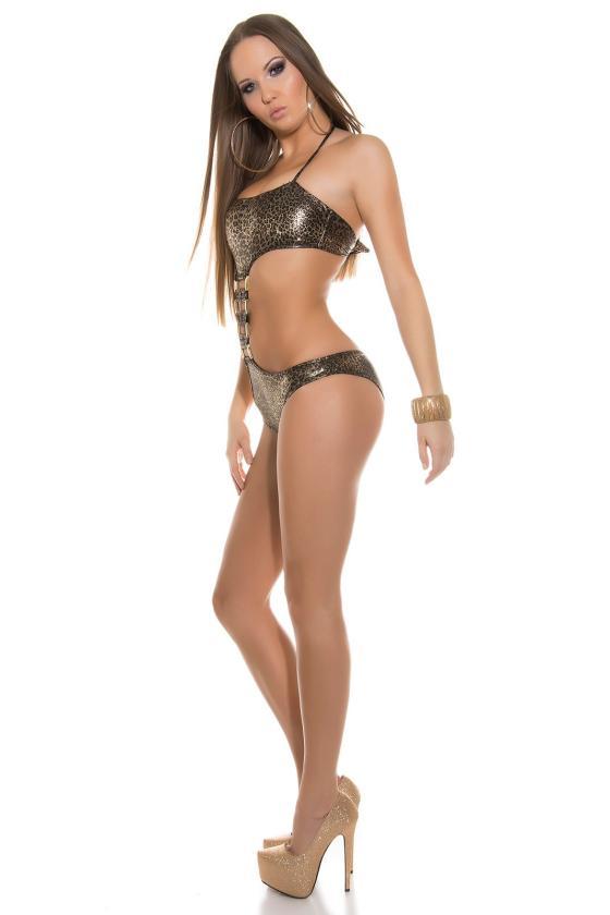 Bordinės spalvos laisvalaikio suknelė L346_146758