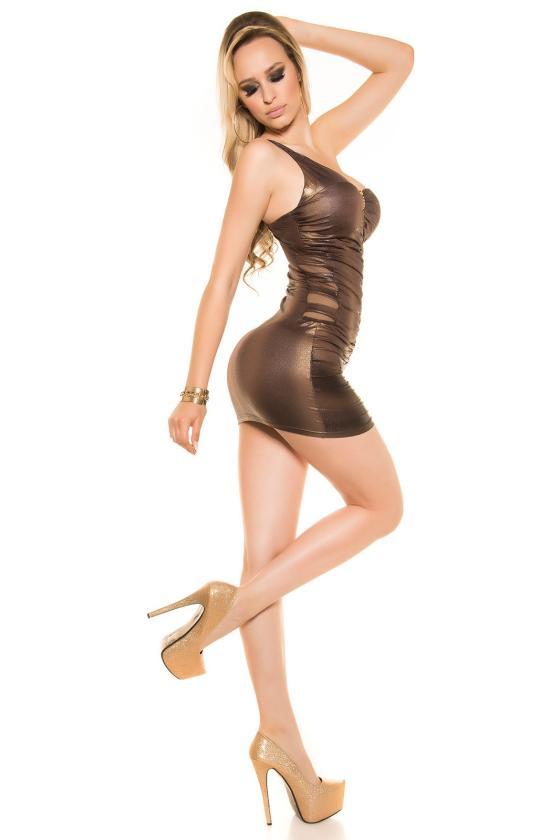 Juodos spalvos surišama suknelė L345_146770