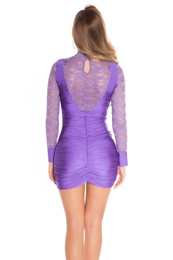 Juodos spalvos surišama suknelė L345