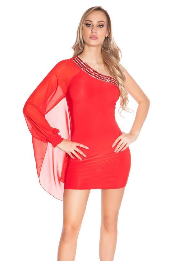 Tamsiai mėlynos spalvos surišama suknelė L345