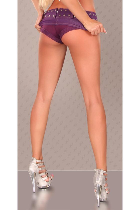 Leopardo rašto surišama suknelė L345D_146810