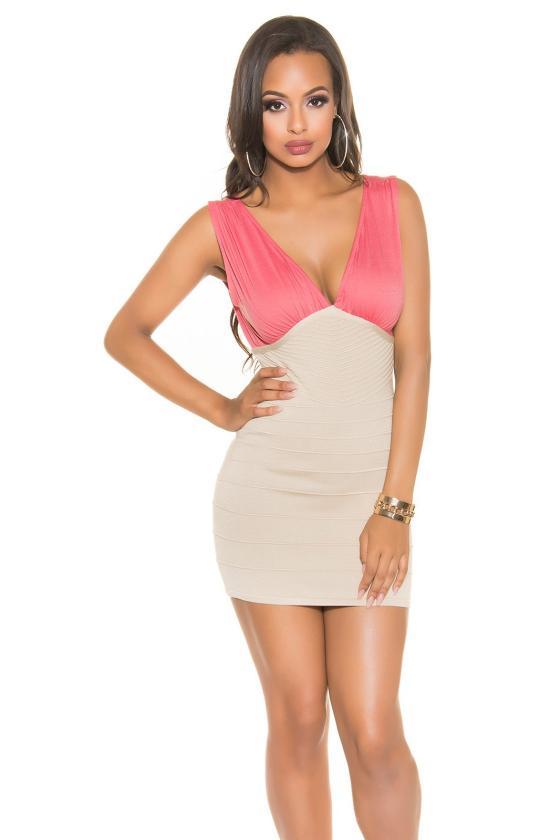 Ilga žalia laisvalaikio suknelė 220-7