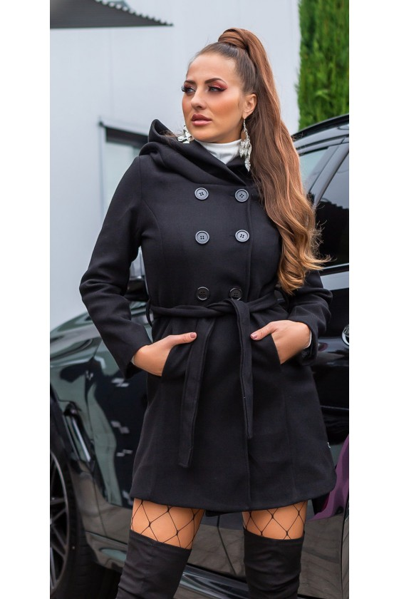 Juodos spalvos paltas M1840