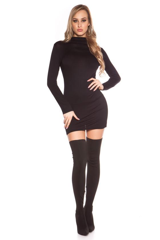 Raudonos spalvos seksuali mini suknelė