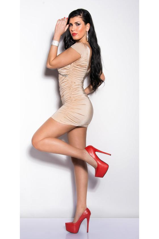 Raudonos spalvos seksuali mini suknelė_148031