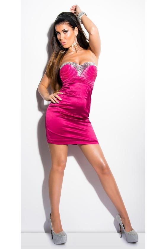 Šampano spalvos seksuali mini suknelė_148046