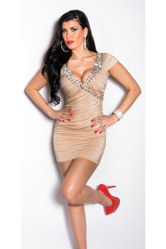 Juodos spalvos seksuali mini suknelė