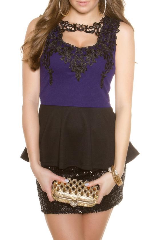 Juodos spalvos seksuali mini suknelė_148062