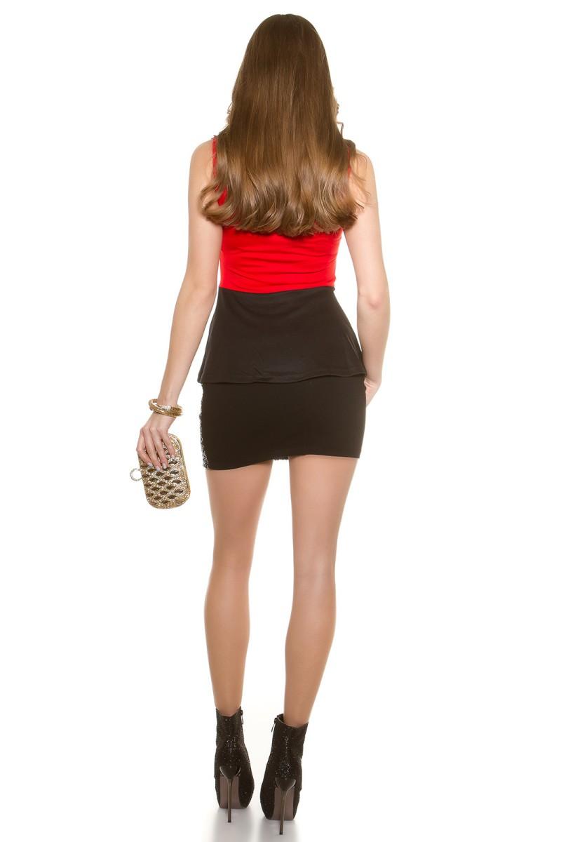Pilka gipiūrinė suknelė