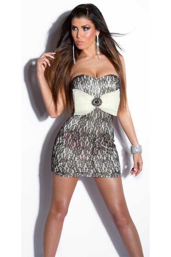 Safyro spalvos gipiūrinė suknelė_148300
