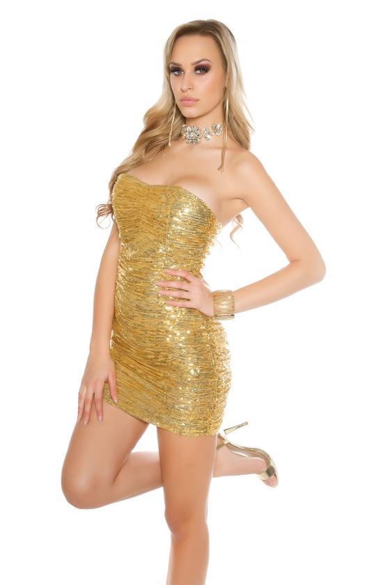 Safyro spalvos gipiūrinė suknelė