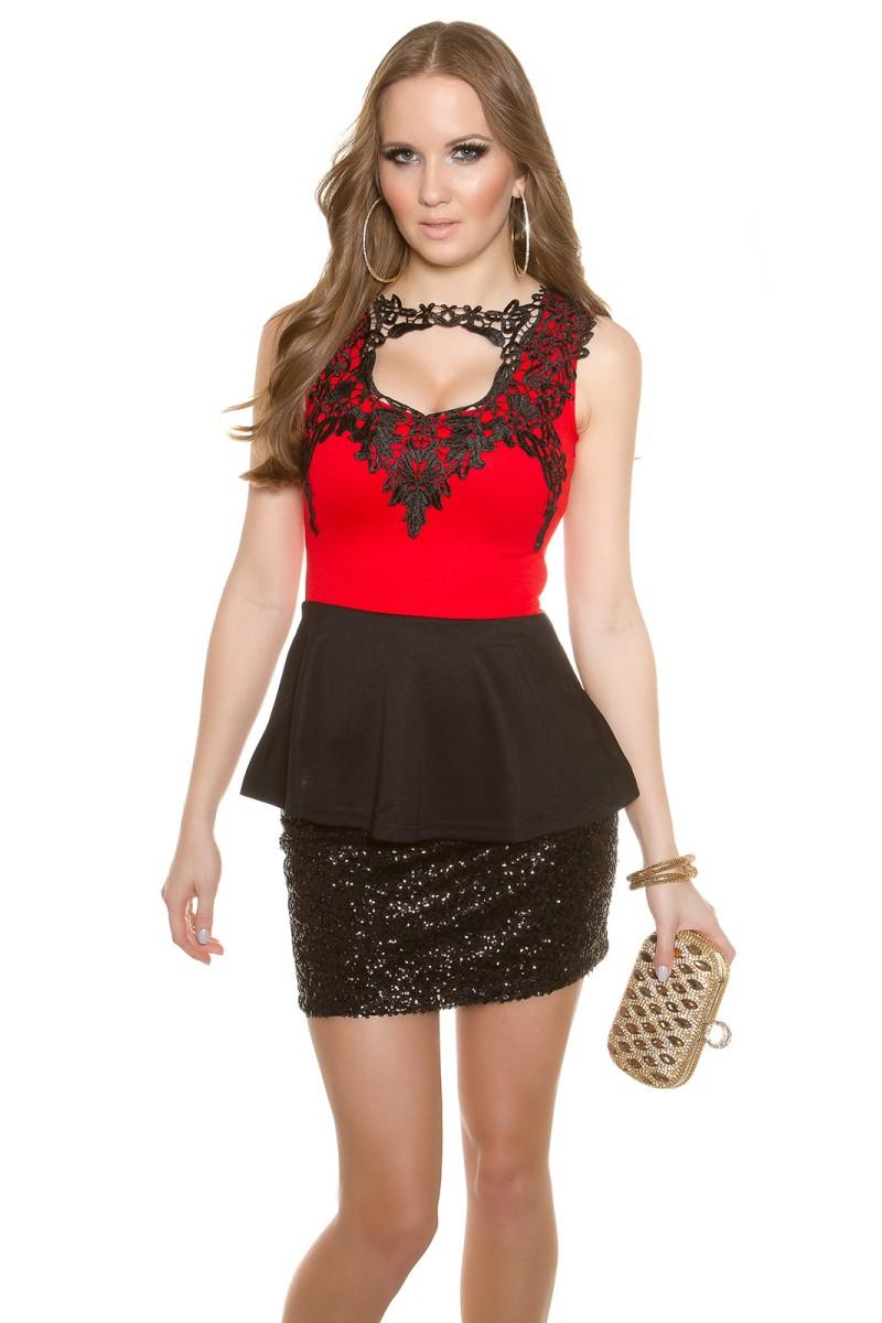 Tamsiai mėlynos spalvos gipiūrinė suknelė_148310