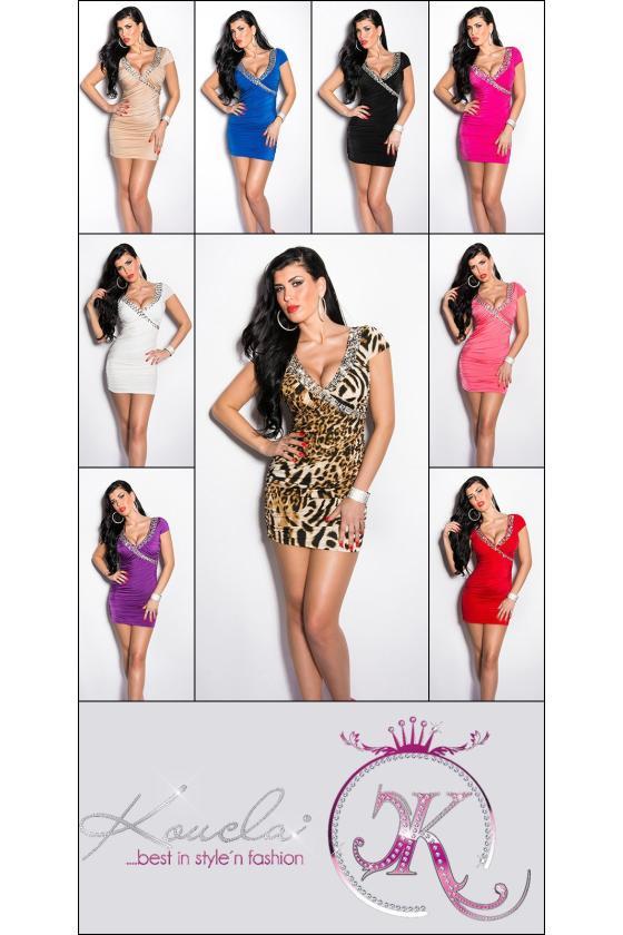 Fuksijų spalvos suknelė su kapišonu 6463_148505