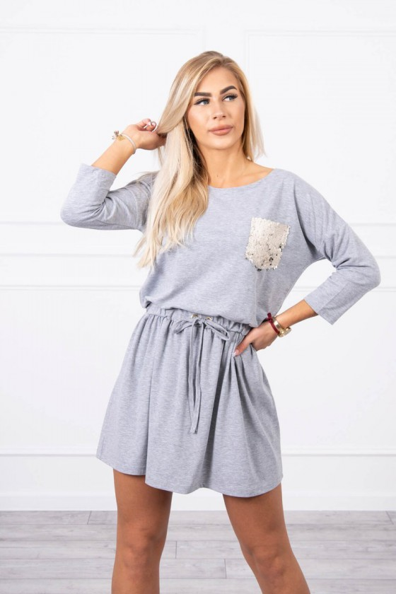 Pilkos spalvos suknelė 9004