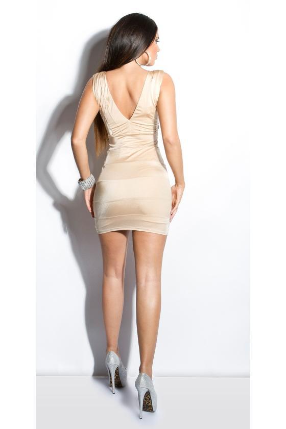Rausvos spalvos suknelė 9004