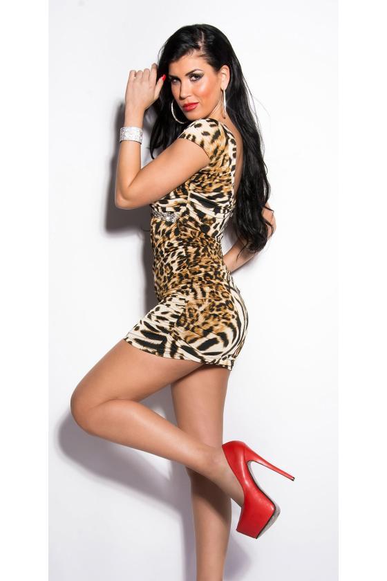 Raudonos spalvos satino imitacijos mini suknelė_148634