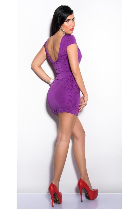 Ilga blizgi violetinės spalvos suknelė_148685