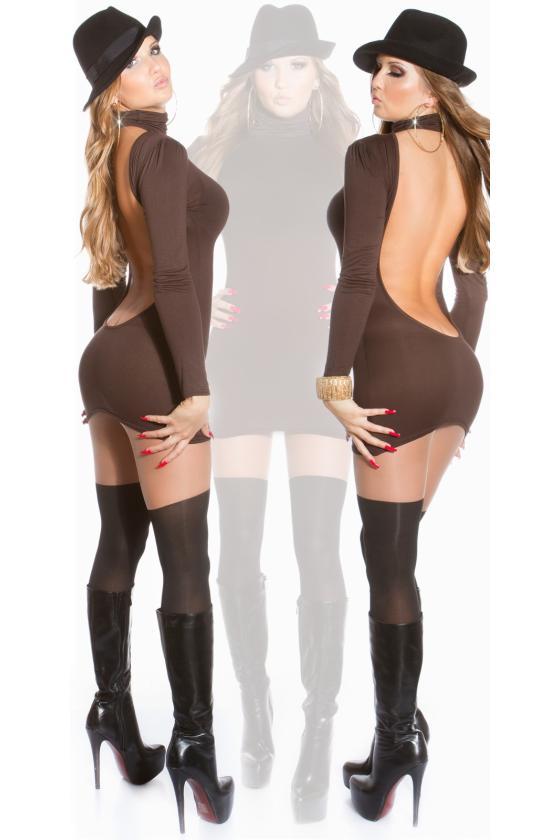 Ilga blizgi juodos spalvos suknelė
