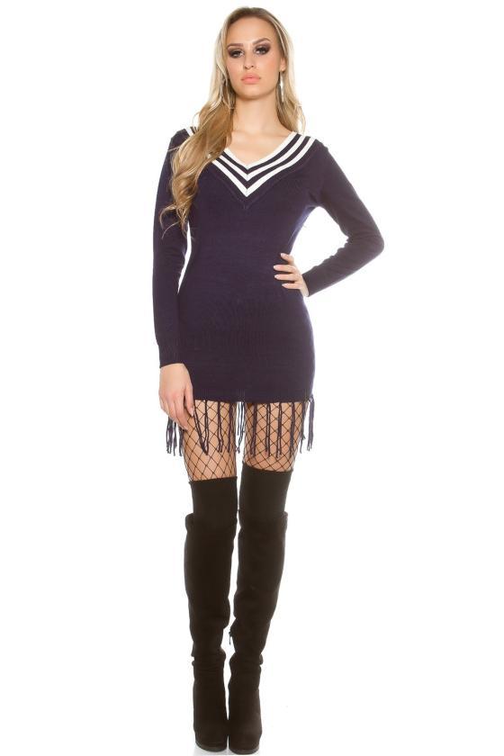 Ilga blizgi juodos spalvos suknelė_148704
