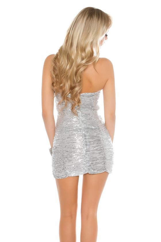 Ilga blizgi juodos spalvos suknelė_148705