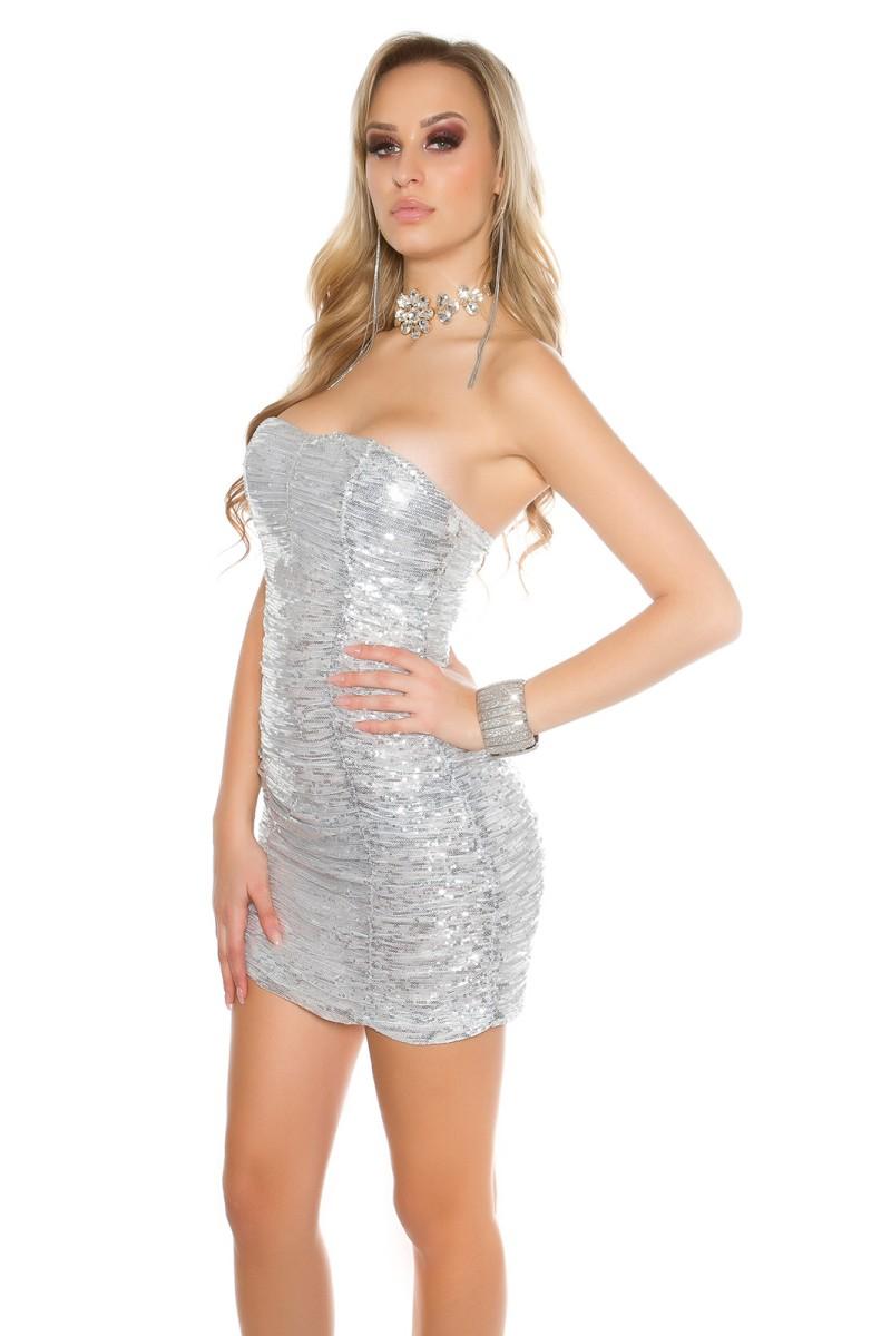 Smėlio spalvos mini suknelė su gipiūrinėmis rankovėmis