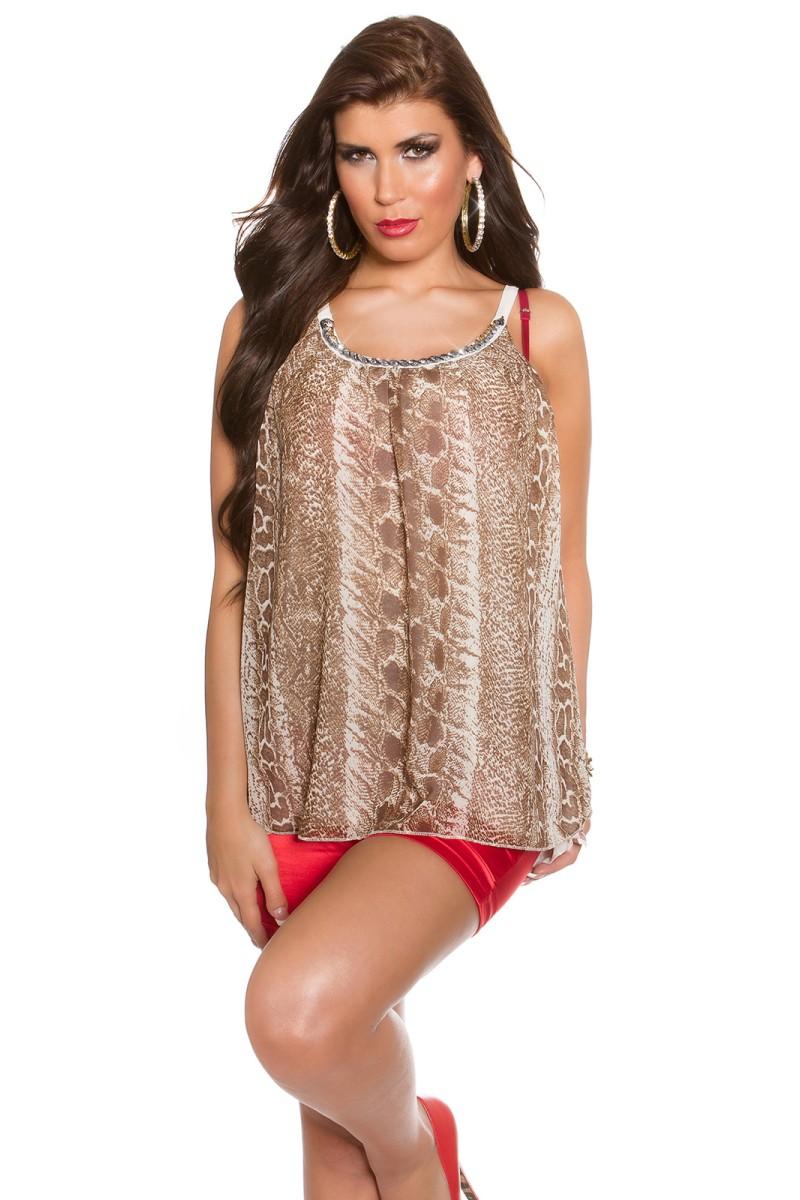 Smėlio spalvos mini suknelė su gipiūrinėmis rankovėmis_148723