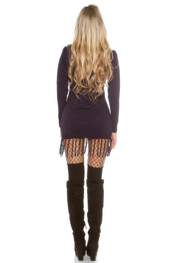 Smėlio spalvos mini suknelė su gipiūrinėmis rankovėmis_148725