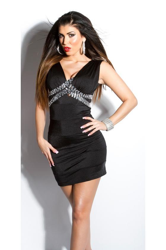 Smėlio spalvos mini suknelė su gipiūrinėmis rankovėmis_148726
