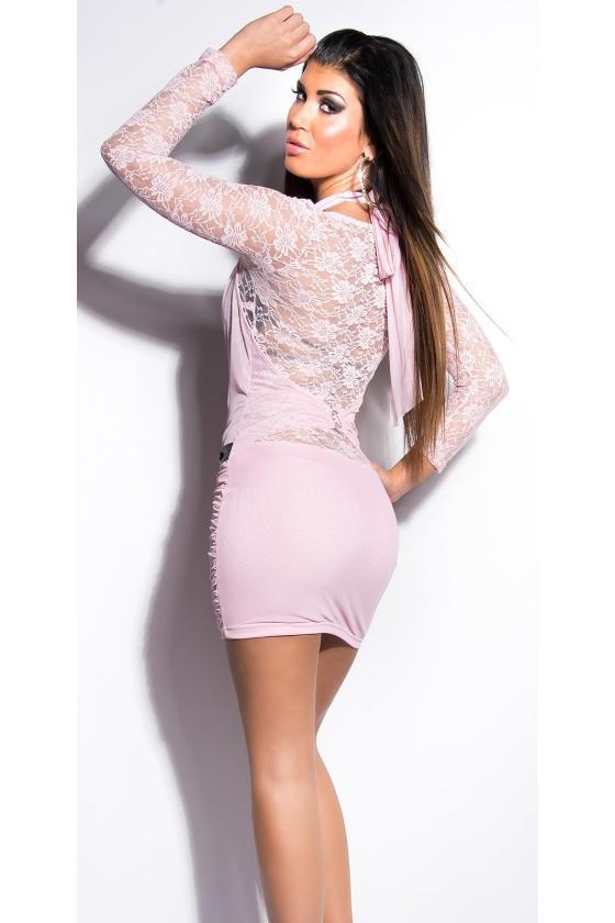 Bordinės spalvos ilga prabangi suknelė_148732