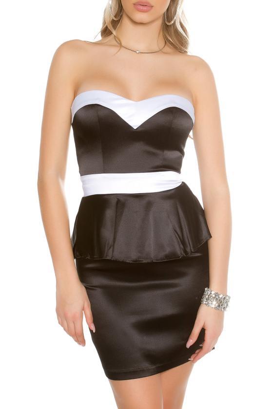 Tamsiai mėlynos spalvos ilga prabangi suknelė_148756