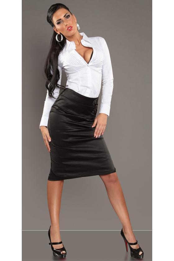 Elastinga žalios spalvos suknelė dekoruota sagomis_148917