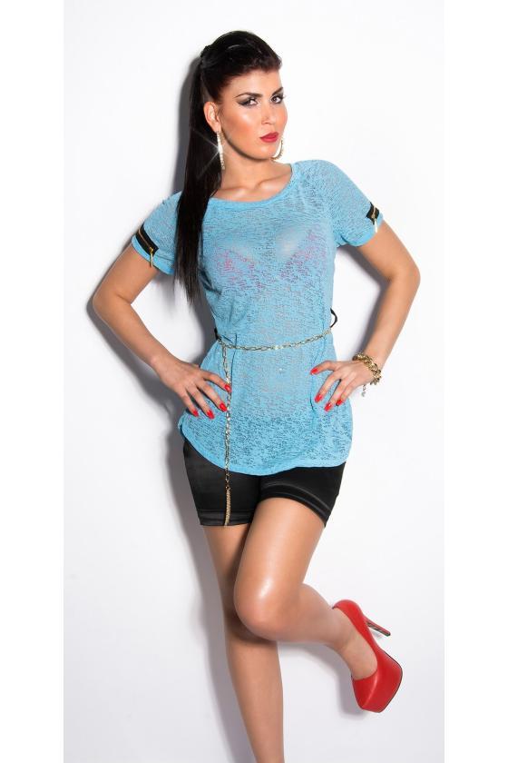 Elastinga žalios spalvos suknelė dekoruota sagomis_148918