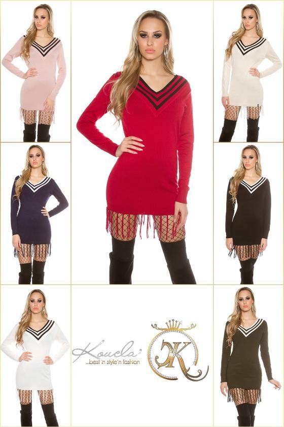 Elastinga žalios spalvos suknelė dekoruota sagomis