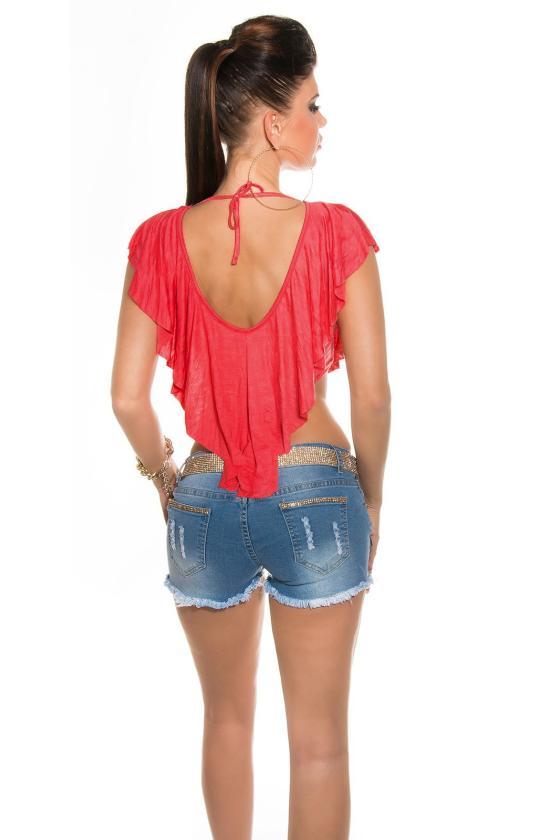 Rausvos spalvos sportinio stiliaus tunika su dirželiu ir gobtuvu_149541