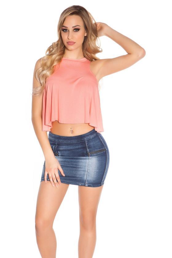 Geltonos spalvos megztinio tipo suknelė_150055
