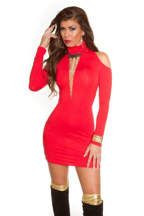 Geltonos spalvos megztinio tipo suknelė_150168