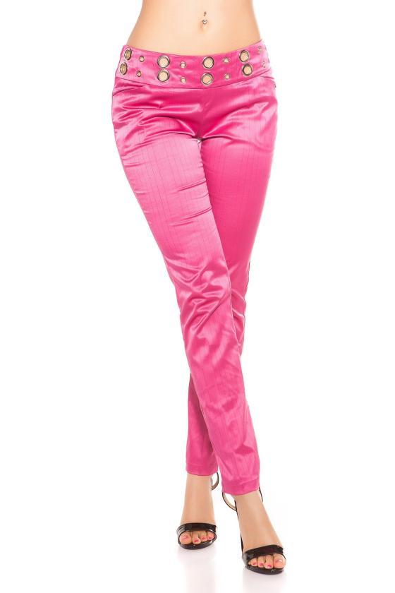 Neoninės rožinės spalvos laisvalaikio komplektas su oversize palaidine_151155