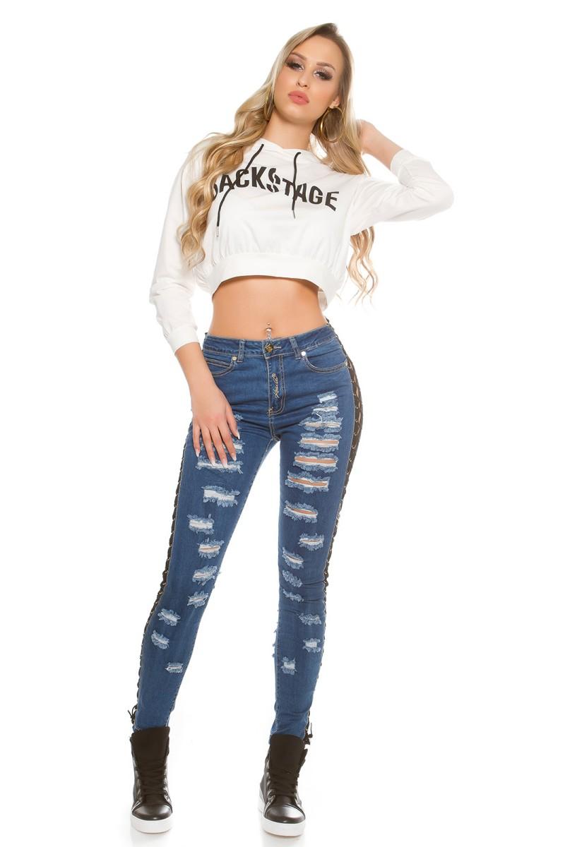 Violetinės spalvos suknelė su kapišonu ir kišenėmis_151180
