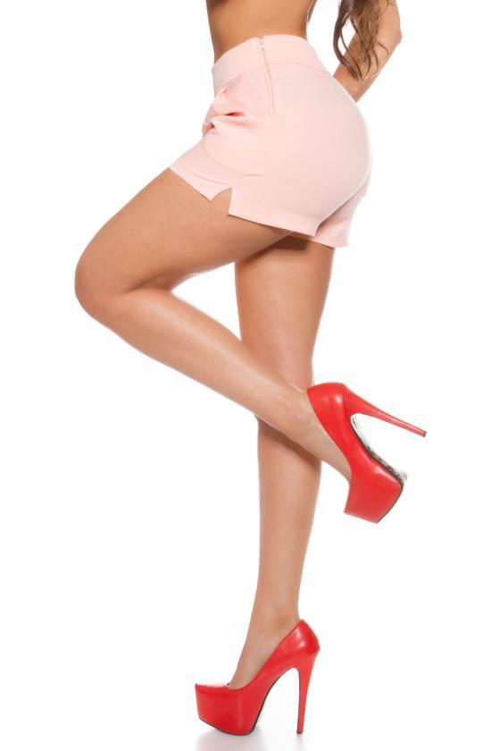 Kapučino spalvos cargo stiliaus laisvalaikio kelnės