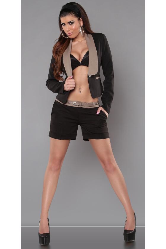 Baltos spalvos cargo stiliaus laisvalaikio kelnės_151340