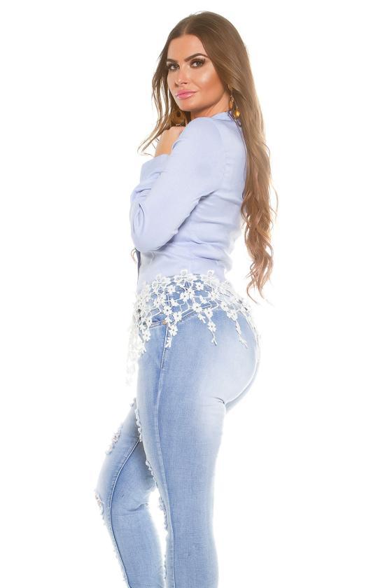 Baltos spalvos cargo stiliaus laisvalaikio kelnės