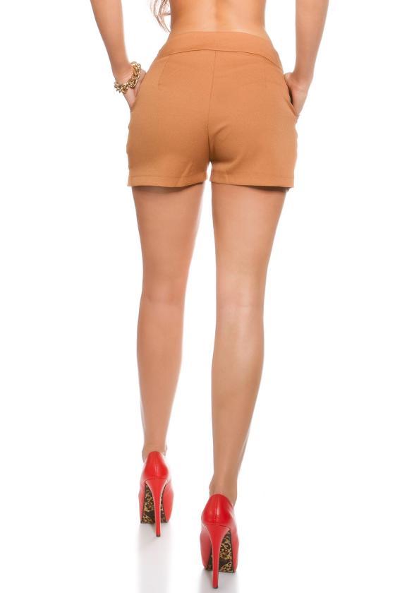 Kapučino spalvos suknelė su dirželiu_151523