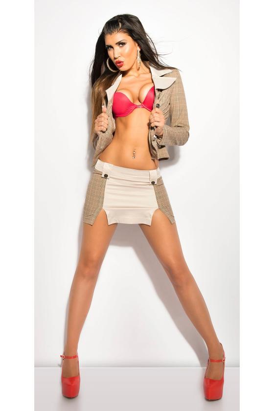 Smėlio spalvos suknelė su dirželiu_151534