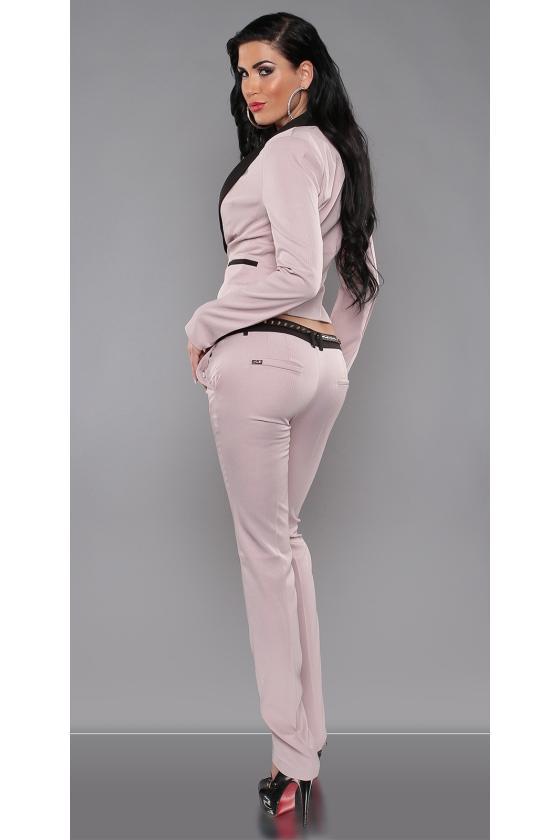 Baltos spalvos suknelė su dirželiu_151547