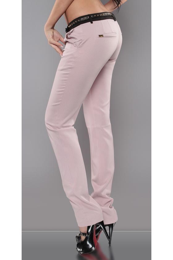 Mėlynos spalvos suknelė su dirželiu