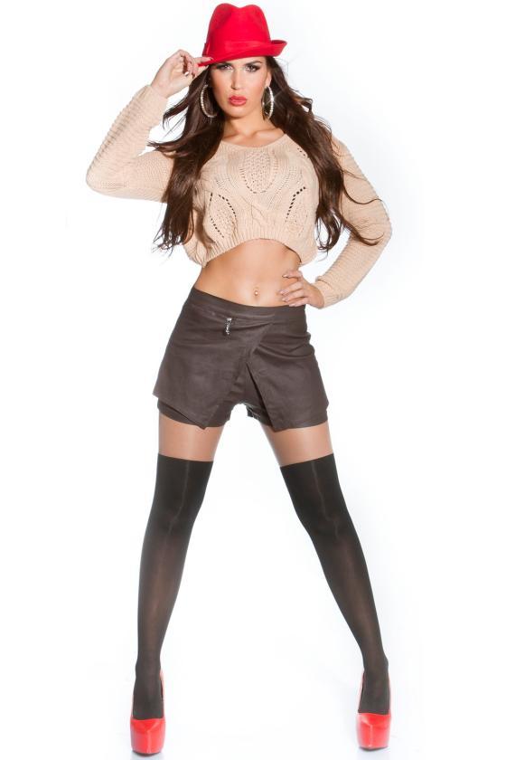 Pilkos spalvos eko kailio kepurė_151961