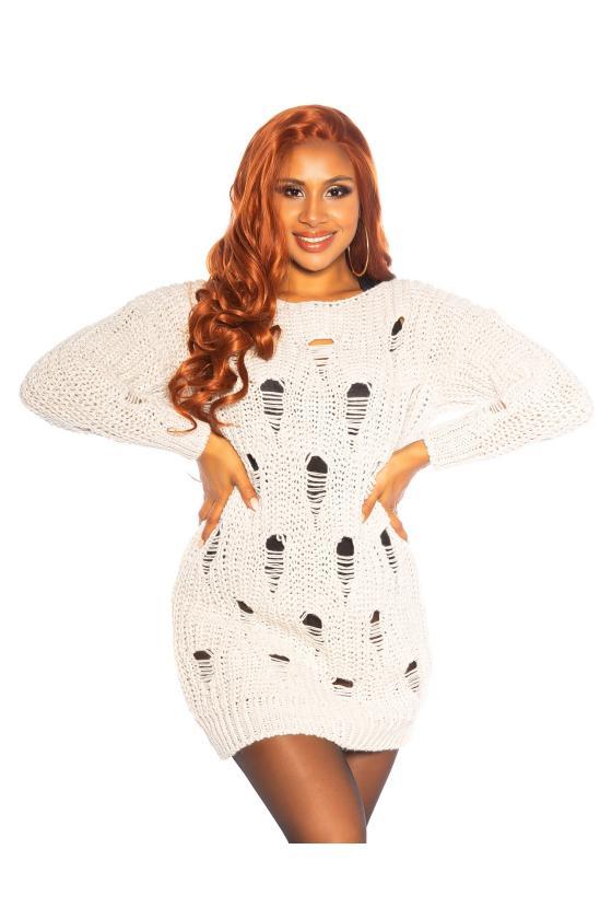 Pilkos spalvos eko kailio kepurė
