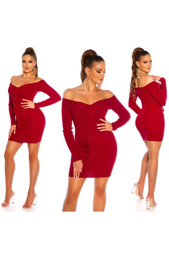Juodos spalvos medvilninė suknelė LN119_152288
